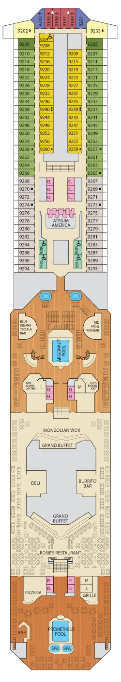 Balcony Cabin 9225 On Carnival Valor Category 8d