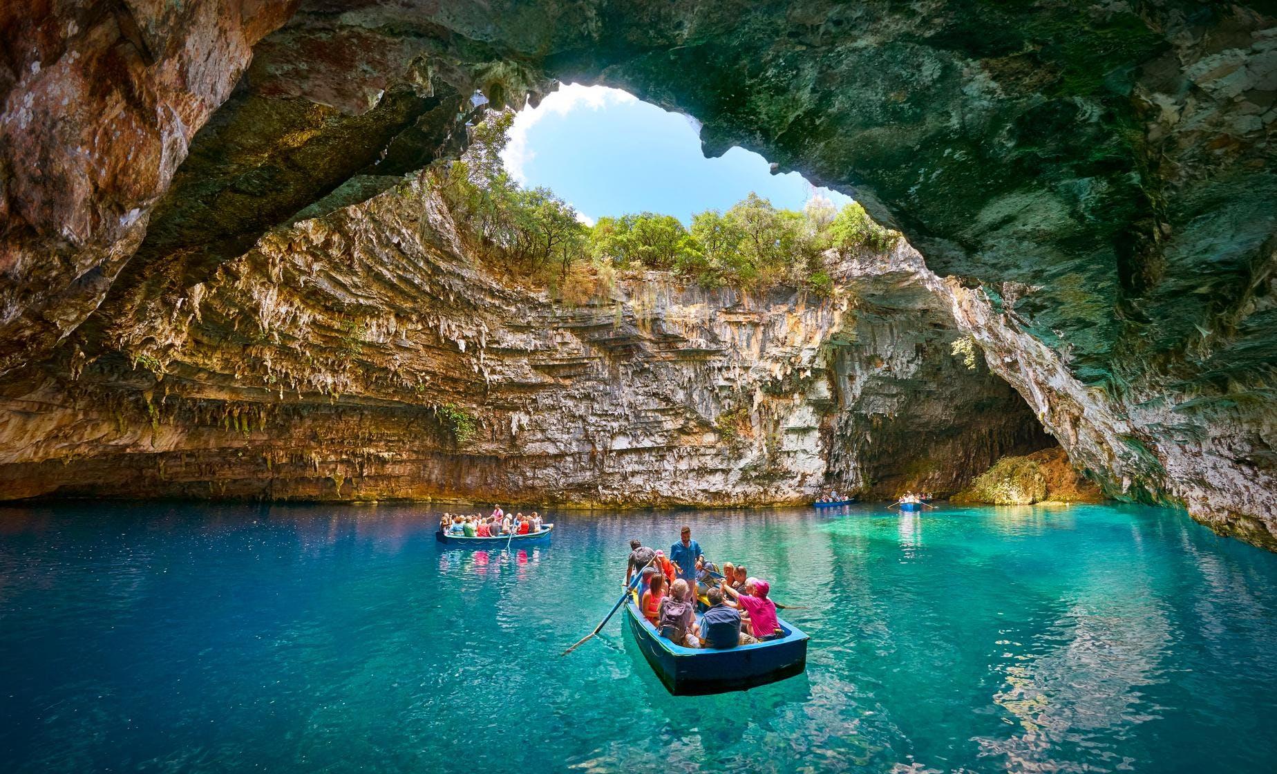 Melissani Lake and Myrtos Beach Tour